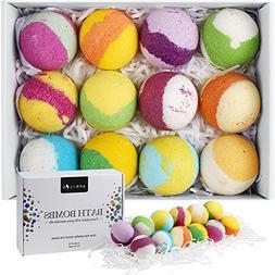 Aprilis 12 Bath Bombs Gift Set, Natural Vegan Bath Bomb Kit