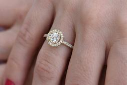 1ct Mossanite Promise Ring Wedding Ring Anniversary Gift For