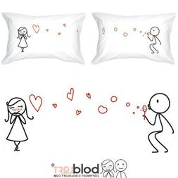 BoldLoft From My Heart to Yours Couples Pillowcases for Him