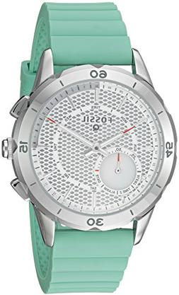 Fossil Q Women's Modern Pursuit Green Silicone Strap Hybrid