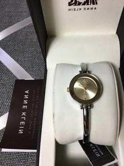 NWT Authentic  ANNE KLEIN diamond Women's Bracelet Watch  GR