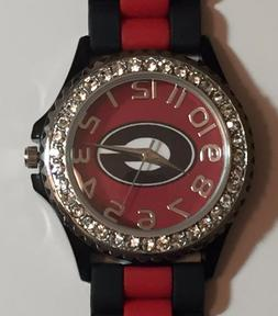 New Georgia Bulldogs Ladies Crystals Watch, Gift for Her Mom
