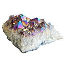 "2.5-3.5"" AB Color Titanium Coated Crystal Cluster Specimen,"
