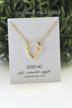 Antler necklace-Antler pendant-Valentine's day necklace-Gift