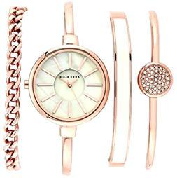 Bangle Watch & Swarovski Crystal Bracelet Set Anniversary Bi