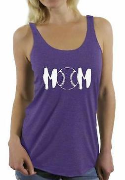 Baseball MOM Racerback Tank Tops Sport Mom Gifts for Her Mot