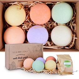 Gaea Miracle Bath Bombs Gift Set, 6 X 4.0 oz Spa Bomb Fizzie