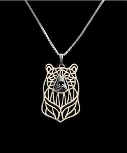Bear Silver Charm Pendant Necklace, Gifts for Her, Friend Gi