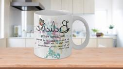 Believe Gift Mug for Her Ceramic coffee cup Tea cup Coffee m
