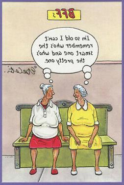 BFF's Eric Decetis Funny / Humorous Feminine Birthday Card f