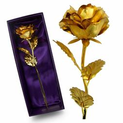 BIRTHDAY GIFT FOR HER 24K Gold Plated Rose Dipped Flower Lov