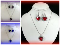 BUY 1 GET 1 50% OFF~CRYSTAL HEART NECKLACE SET~MOTHERS DAY G