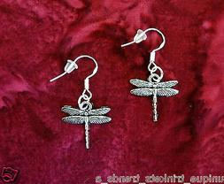 BUY 3 GET 1 FREE~DRAGONFLY SILVER EARRINGS~GRADUATION GIFT F