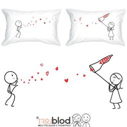 catch love too couple pillowcases