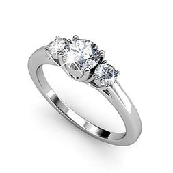 Cate & Chloe Felicity 18k White Gold Plated Ring with Swarov
