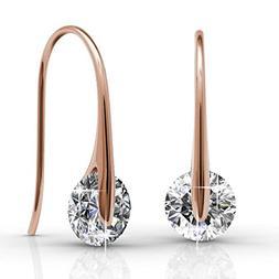 Cate & Chloe McKayla Wonderous 18k Rose Gold Drop Earrings w