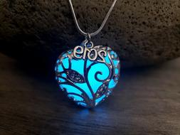 Class of 2019 Graduation Gift for Her Necklace Glow in Dark