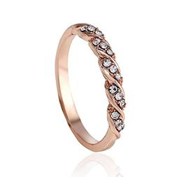 Clearance Sales Womens Girls Faux Crystal Rings AfterSo Exqu