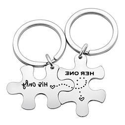 Couple Key Chain Set Gifts for Husband Wife Boyfriend Girlfr