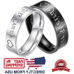 Couple's Matching Ring His Crazy or Her Weirdo Wedding Band