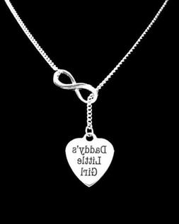 Daddy's Little Girl Infinity Lariat Necklace Christmas Gift