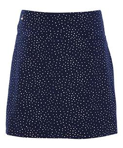 Teez-Her Womens Dot Tummy-Control Moderate Compression Skort