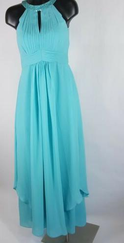 For Her For Him Formal Chiffon Dress Wedding Jeweled Pleat E
