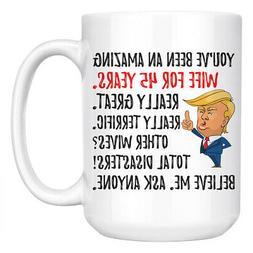 Funny 45th Anniversary Wife Trump Mug, 45 Years Anniversary