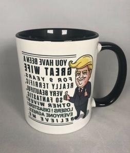 Funny 9th Anniversary Great Wife Trump Mug, 9 Years Annivers