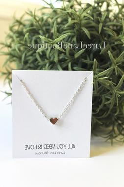 Gift for her love heart necklace