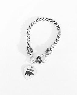 Gift For Her, Mama Bear Mother's Day Gift Mom Charm Bracelet