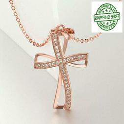 Gift for Her Women Girls Wife Love Pendant Necklace 18K Rose