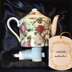 "GIFT IDEA FOR HER Teapot Night Light Plug-In - ""Adeline"""