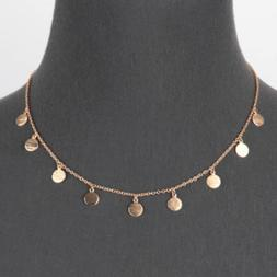 Gold Multi Disc Charm Necklace Women's Fashion Gift For Her
