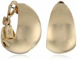 gold tone band hoop earrings