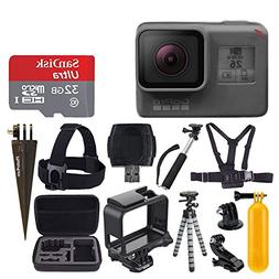 GoPro HERO6 Black + SanDisk Ultra 32GB Micro SDHC Memory Car