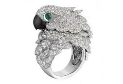 Green Women's Parrot Bird Rings Fashion Ring Unique Gift for