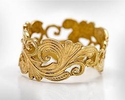 Handmade 14k Gold Wedding Ring For Women, Bridal Wedding Rin