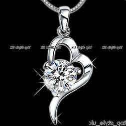 Heart 925 Sterling Silver Pendant Necklace Gift for her Girl