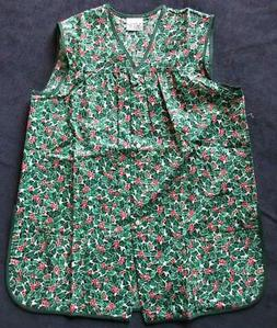 Haband For Her Christmas Holly Print  Artist Cleaning Smock