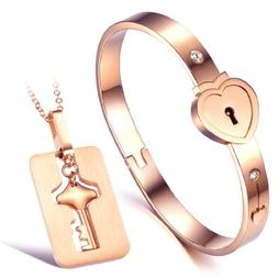 """His and Hers Matching Set Couple Titanium""""Only You Have My K"""