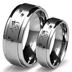 Southern Designs His Buck & Her Doe Tungsten Ring Set
