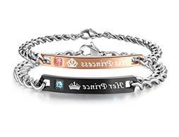 His or Hers Matching Set His Princess Her Prince Titanium St