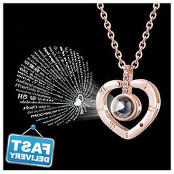 Bowisheet I Love You Necklace 100 Languages Memory Real Soli