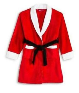 Intimo For her Santa Claus Fleece  Robe Christmas Red Bathro