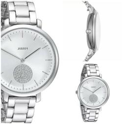 Fossil® Women's Jesse in Silvertone Watch with Crystal T