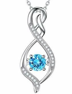 Jewelry Gift for Her Birthday March Birthstone Aquamarine Ne