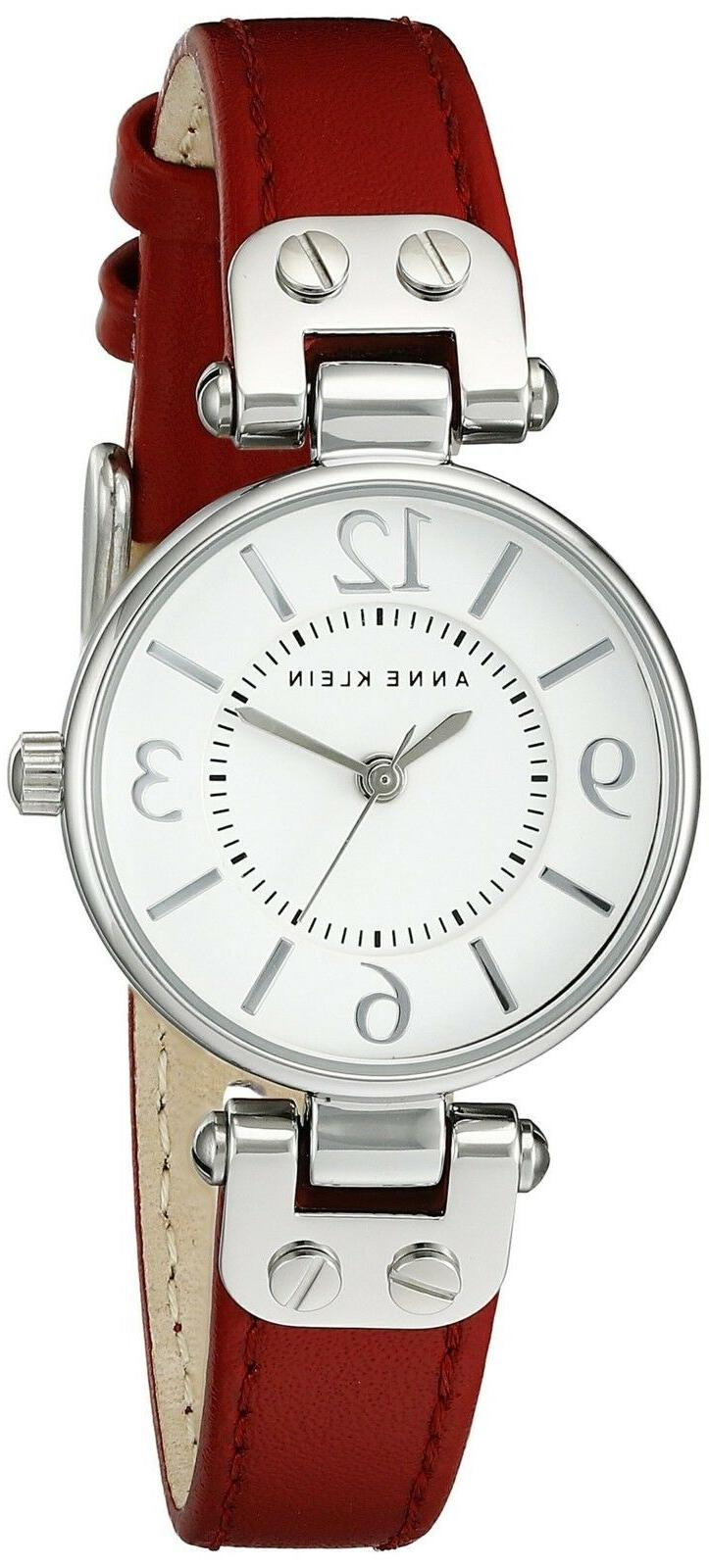 109443wtrd silver tone dial leather