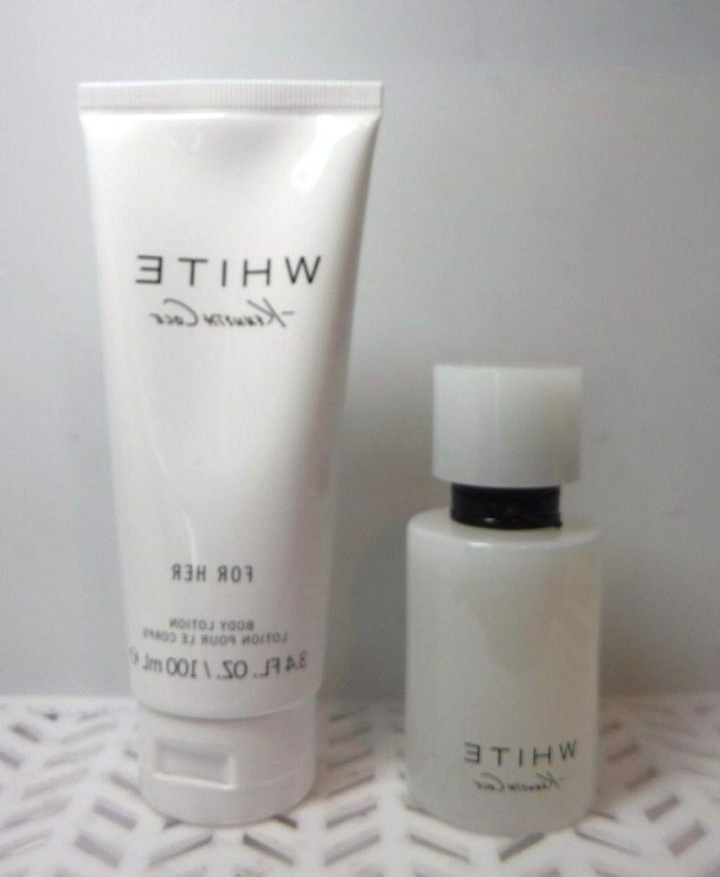 2 pc Set Kenneth Cole WHITE For Her 1 oz EDP & Body Lotion 3