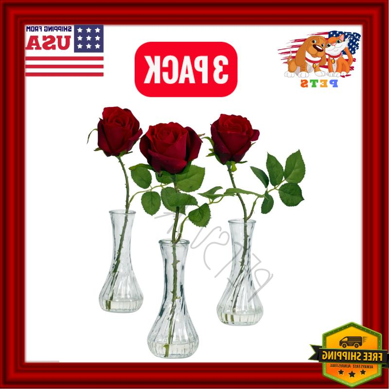 3 PACK Valentines Gift For Her Romantic Artificial Rose With